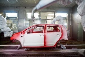 Pohľad na výrobu vo fabrike Volkswagen Slovakia v Devínskej Novej Vsi.
