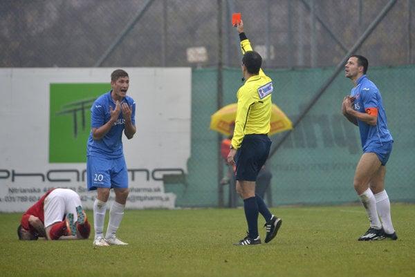 Tomáš Bagi zápas pre červenú kartu nedohral.