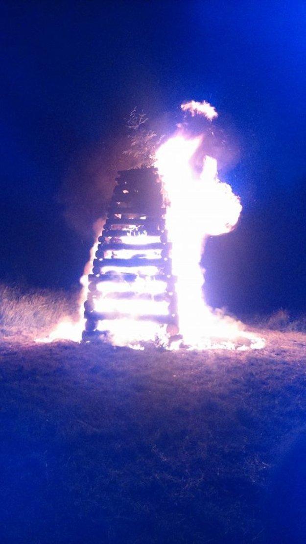 Jánska vatra v Rajeckej Lesnej.