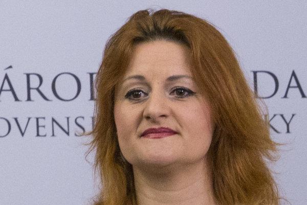 Poslankyňa Natália Blahová.
