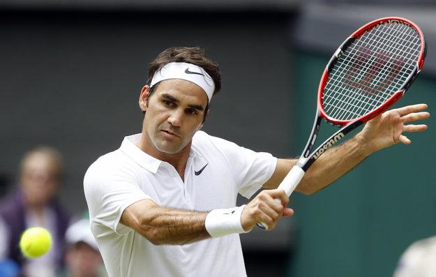 Roger Federer bol spokojný s tým, ako zahral.