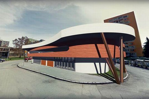 Takto by mal vyzerať parkovací dom. O jeho výstavbe uvažuje EEI na mieste súčasného parkoviska pri GES klube.