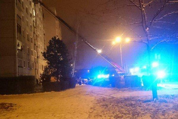 Zásah hasičov na Drábovej ulici.