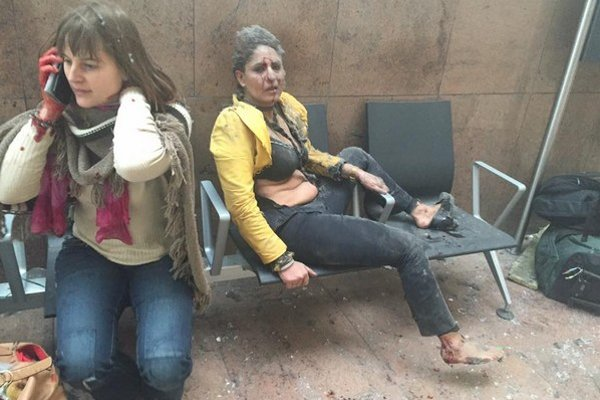 Momentka z bruselského metra.