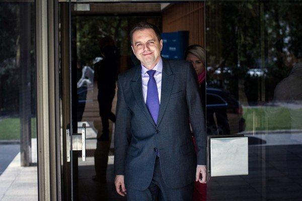 Minister financií Peter Kažimír po rokovaní vlády.