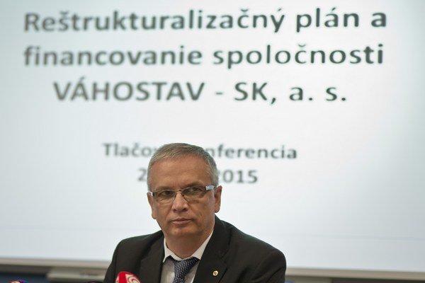 Generálny riaditeľ Váhostavu Marián Moravčík.