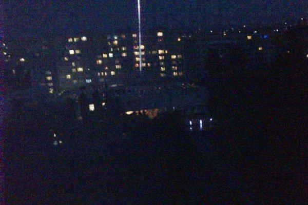 """Pohľad z balkóna. Lokalita obchodného centra Erika neďaleko magistrátu ponúka niekoľkominútovú """"intímnu"""" atmosféru."""