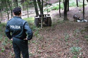 Miesto tragédie. Polícia traktor strážila.