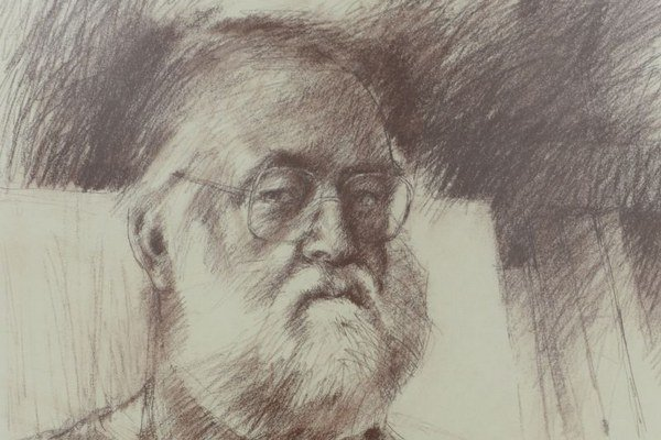 Na snímke obraz s názvom Autoportrét VIII, 1990.