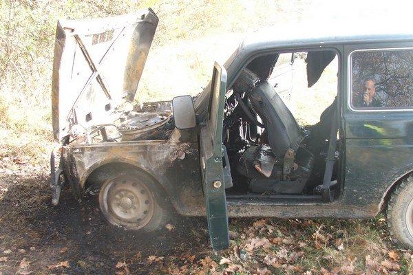 Po požiari. Motor vyhorel kompletne.
