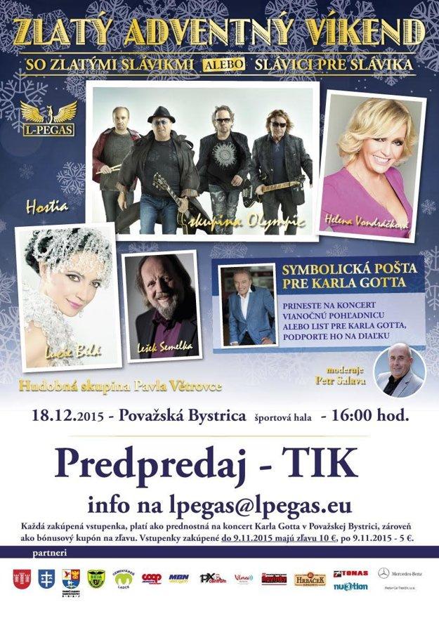 Názov koncertu zmenili.