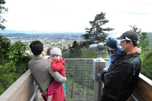 Z Košického hradu je pekný výhľad.