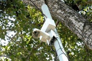 Nová kamera pri pošte. Monitoruje priestor v blízkosti Mestského parku.