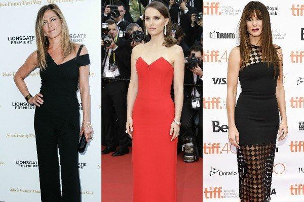 Zľava: Jennifer Aniston, Natalie Portman, Sandra Bullock