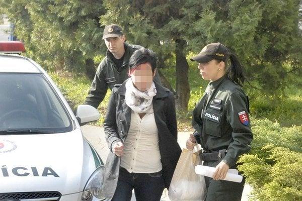 Erika kráča na súd. Dostala peňažný trest 400 eur.