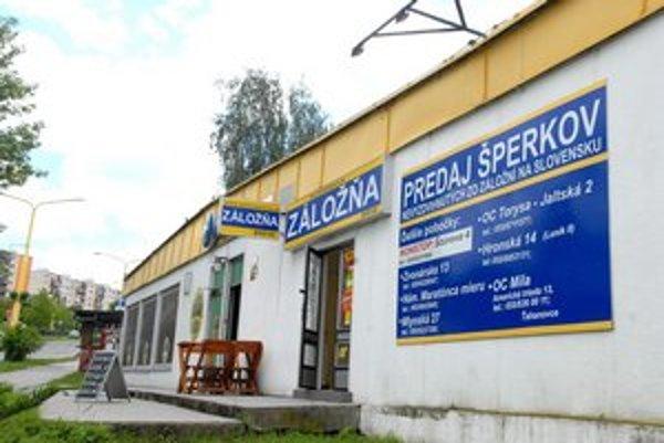 Záložňa na Kalinovskej. Vykradli ju vlani v januári.