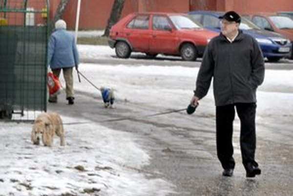 Majiteľ a pes. Terasan Ladislav považuje webovú novinku za krok vpred.