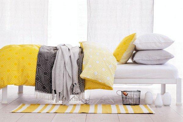 Žltá spálňa podľa H&M