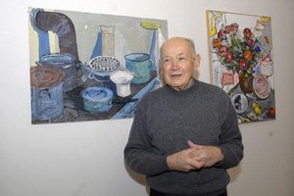 Ivan Šafranko vyberal diela na výstavu veľmi dôsledne. Kuchynské zátišie je jedným z jeho najmilších.