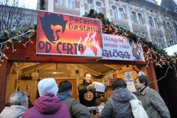 Vianočné trhy. Budú otvorené až do 6. januára.
