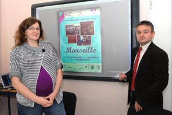 Aurore Pascot a Roman Gajdoš predstavili program Dní francúzskej kultúry.