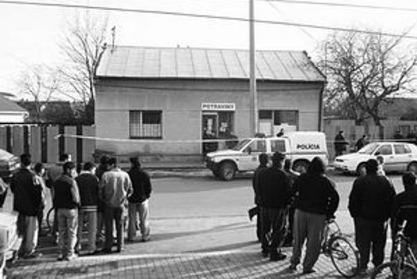 Obchod v Trebišove. V roku 2003 sa tu strhla streľba.