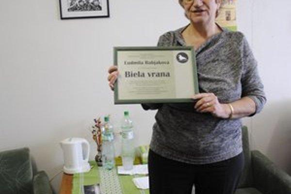 JUDr. Babjaková získala Bielu vranu v roku 2009.