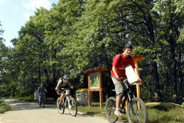 Takto sa môžu cyklisti preháňať v lese nad Furčou.