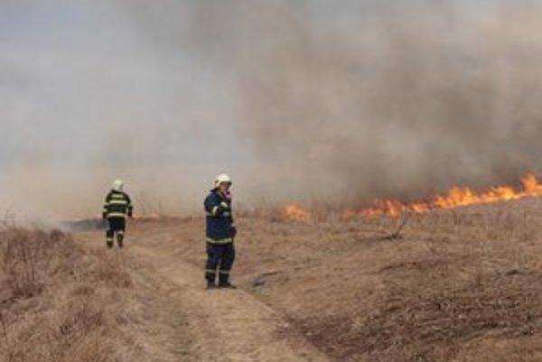 Plamene. Za obeť im padli stovky hektárov porastu, stĺp vysokého napätia a takmer i domy Perešanov.