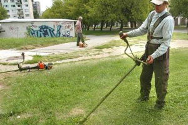 Zelené koberce. Za kosačkami sa práši. V meste sa kosí druhý raz v tejto sezóne.