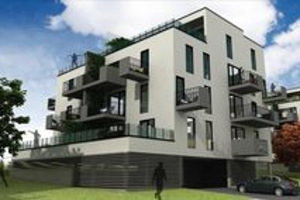 Vizualizácia. Projekt bytových domov v Košickej Novej Vsi.