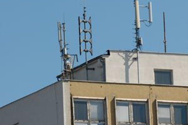 """Niekoľko """"Paviánov"""" je aj na streche Sociálnej poisťovne na Festivalovom námestí."""