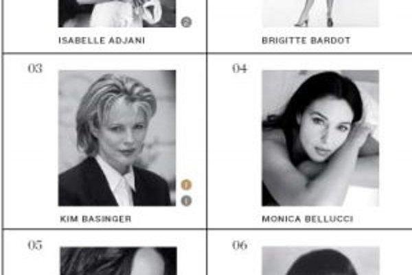 Šesť najkrajších žien filmového plátna podľa denníka Los Angeles Times.