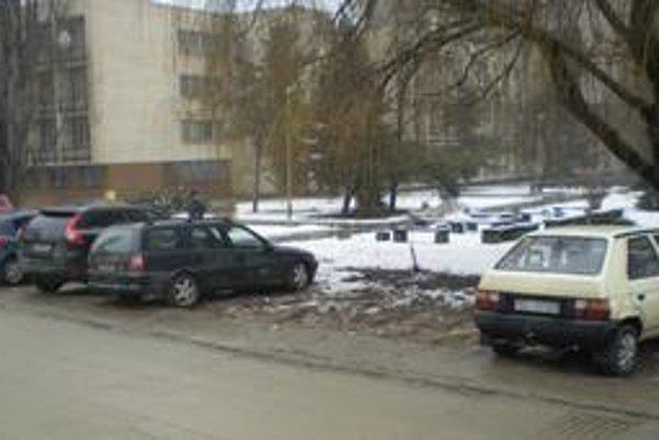 Parkovanie na tráve.