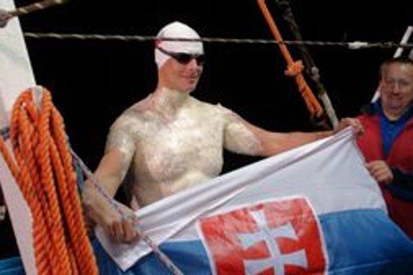 I. Gazdík krátko pred pokusom zdolať kanál La Manche.