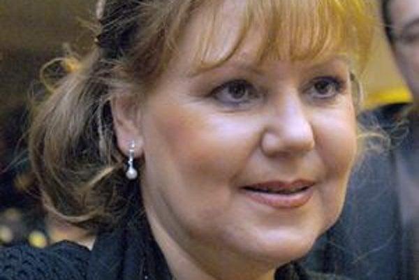 Herečka Ľuba Blaškovičová