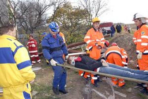 Cvičenie. Záchranári v akcii.