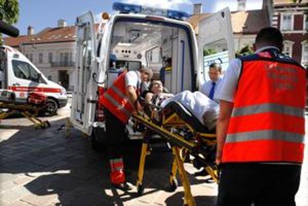 Nové vozidlá. Záchranári názorne ukázali ich využitie.