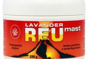 Masáž s mierne hrejivou Lavander reumasťou s konopným a éterickými olejmi a minerálmi z Mŕtveho mora zvyšuje prekrvenie stuhnutých tkanív a poskytuje úľavu boľavým žilám, IB Cosmetic, 3,20 €
