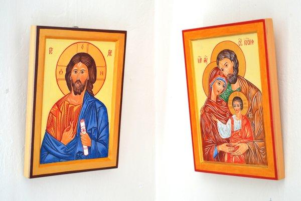 V handlovskej galérii sú vystavené ikony.