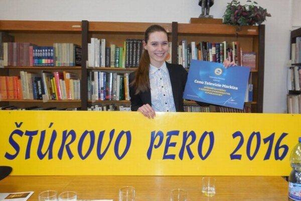 Ocenená novinárka. Lea získala na celoslovenskej súťaži 3. miesto.