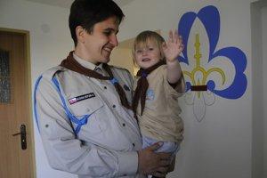 Martin Kahanec s dcérkou.