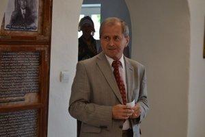 Vnuk Ján Kolarčík. Z výstavy sa veľmi tešil.