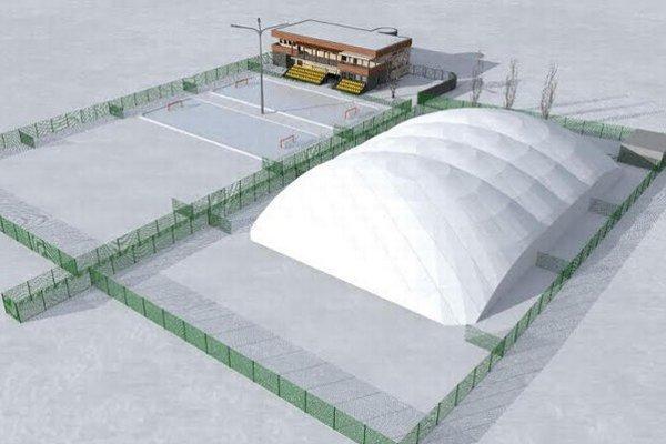 Vizualizácia návrhu na prestavbu tenisových kurtov na Nábrežnej.