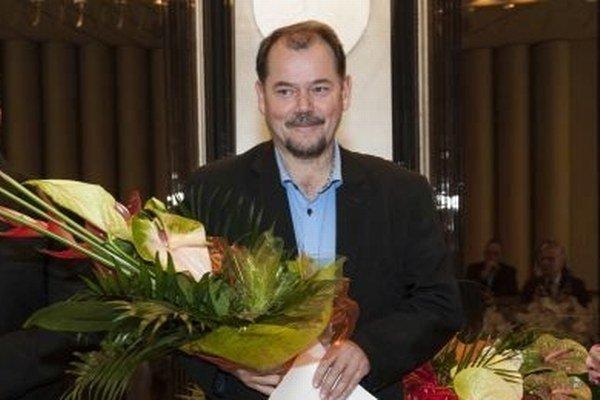 Ocenený laureát. Jozef Hrušovský.