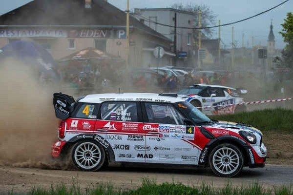 Na trati Rally Prešov. Jozef Béreš ml. skončil druhý.