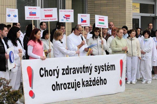 Prešovskí lekári opäť protestujú.