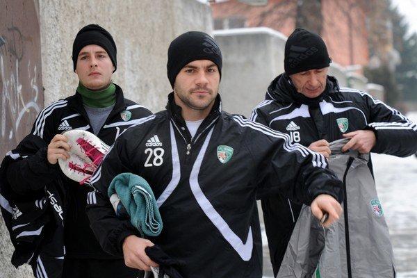 Návrat. Belejík (vľavo) sa zapojil do zimnej prípravy Tatrana.