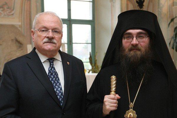 Nový metropolita s prezidentom Slovenskej republiky.