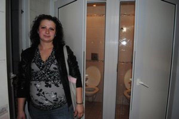 M. Palčáková. Toalety v meste využíva často, najmä teraz počas tehotenstva.